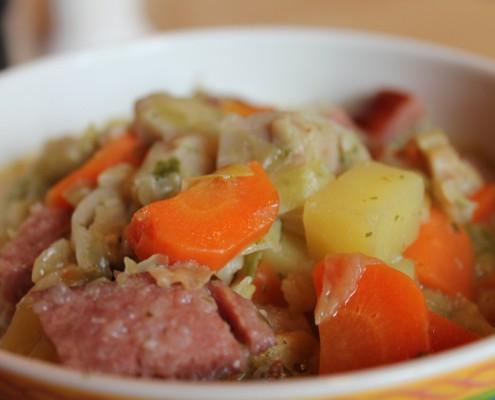 manger une soupe ou un potage au restaurant